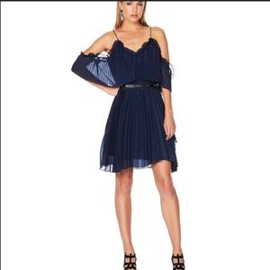 La Maison Talulah Navy Blue Pleated Wonder Dress
